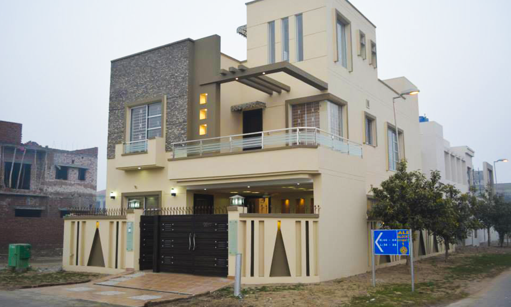 Front Elevation Corner House : Marla house in ali block of bahria town constructed by