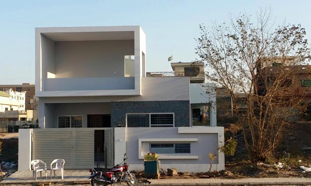 Marla Home Front Elevation : House designs in pakistan