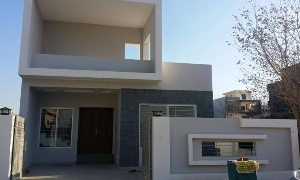 Front Elevation Stone Work : House designs in pakistan