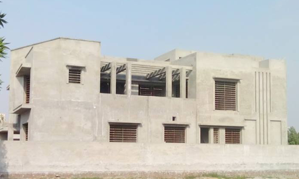 grey structure in bahria town lahore