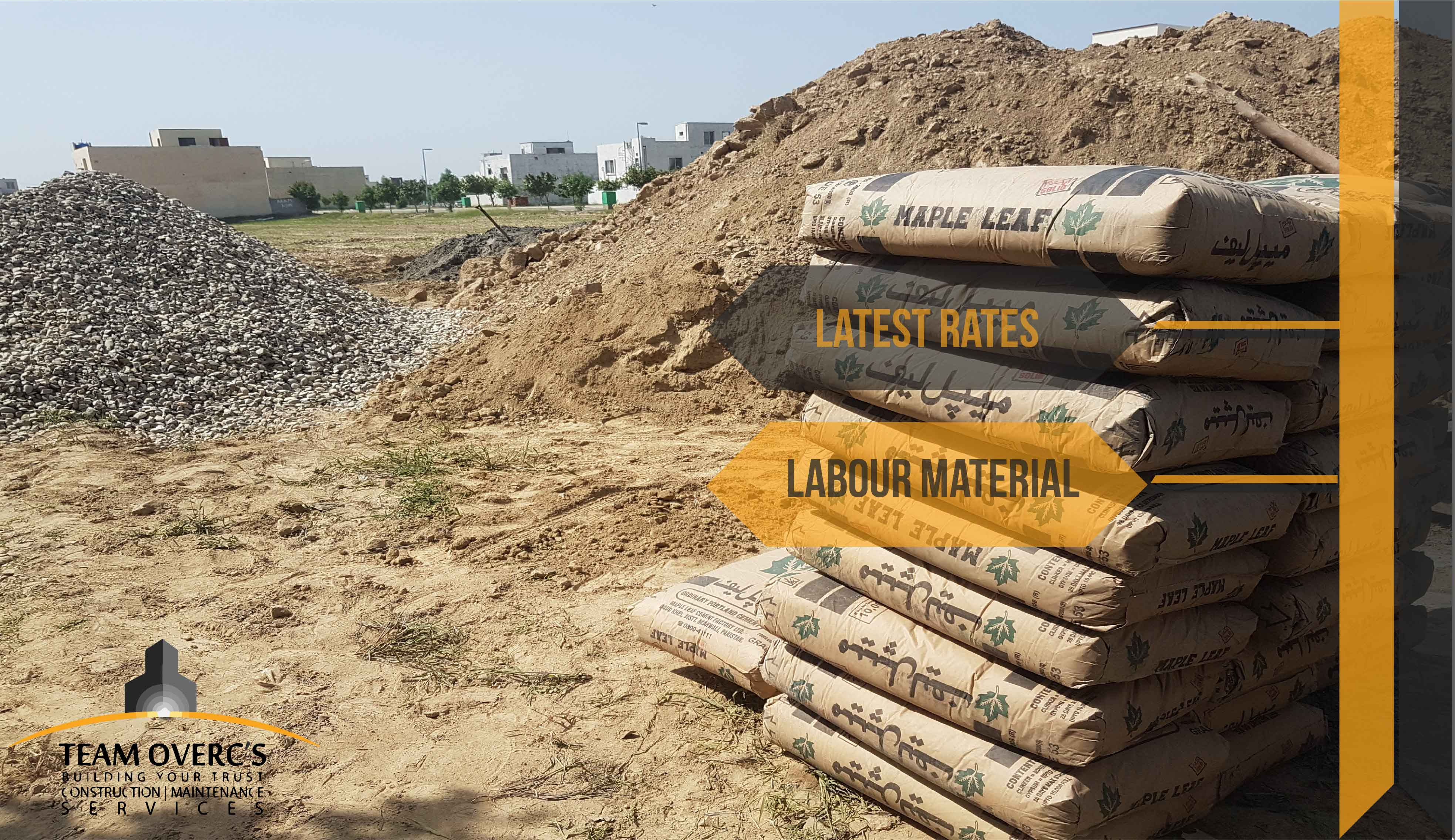 Latest construction rates for house construction in Lahore